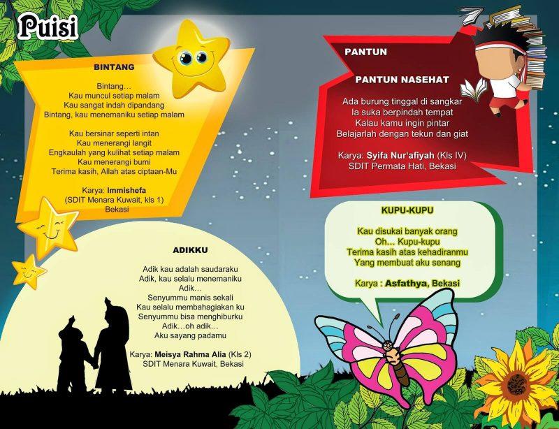 53 Puisi Anak Sd Indonesia Tentang Alam Keluarga Dan