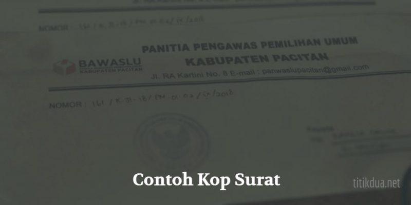 Contoh Kop Surat Resmi