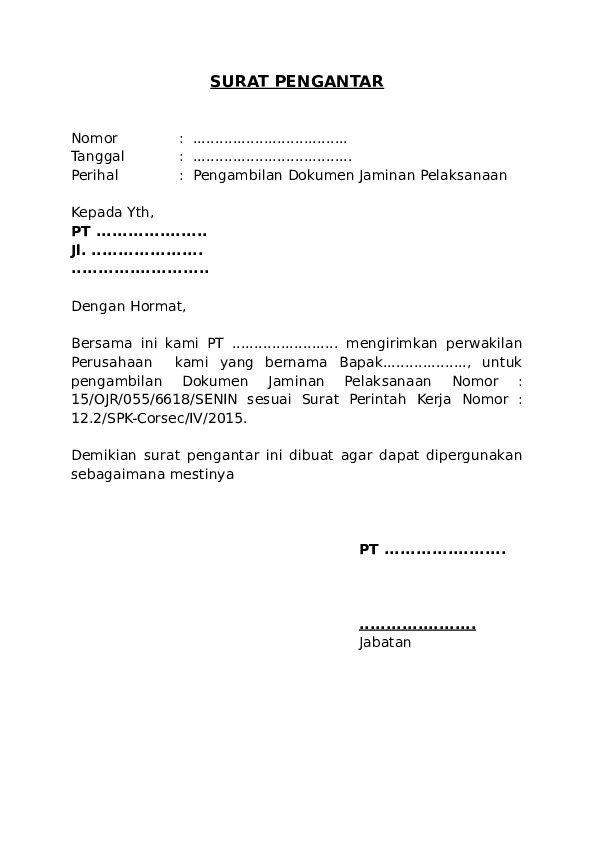 19 Contoh Surat Pengantar Barang, RT, Dinas, dan Urusan ...